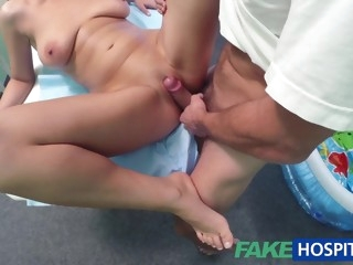 Busty Blonde Babe Needs Wet Therapy And Huge Doctor's Dick