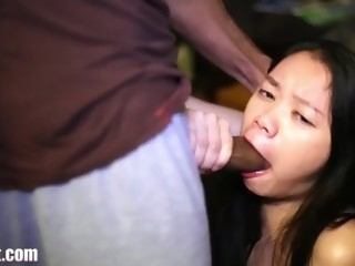 little chink brutally throated