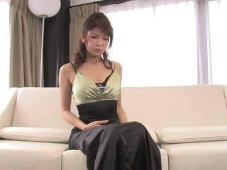 Japanese beauty sucks and titty fucks hard dick